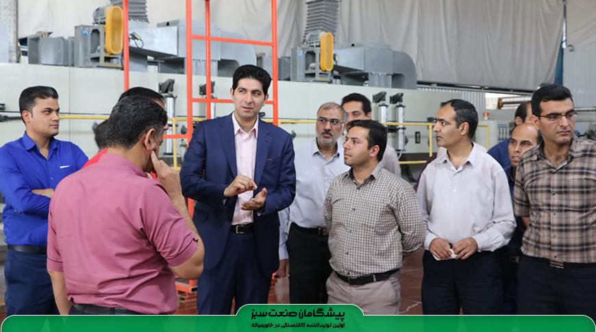 بازدید کارشناسان ایمنی و بهداشت شرکت گاز استان یزد