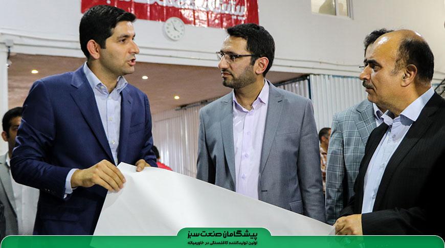 آمادگی وزارت تعاون جهت حمایت از طرح توسعه کارخانه کاغذسنگی پیشگامان صنعت سبز