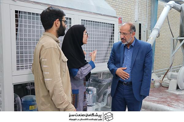 بازدید دکتر میرمحمدی به همراه دانشجویان دانشگاه علوم پزشکی شهید صدوقی یزد